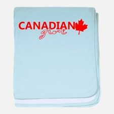 Canadian Girl baby blanket