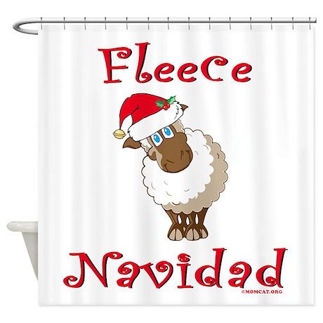 Fleece Navidad Shower Curtain