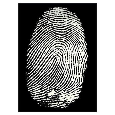Enlarged fingerprint Poster