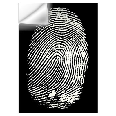 Enlarged fingerprint Wall Decal