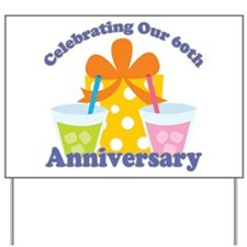 60th Anniversary Party Gift Yard Sign