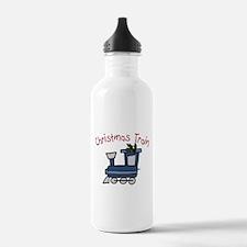 Christmas Train Water Bottle