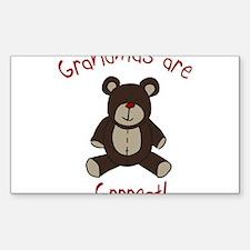 Grandma Teddy Bear Sticker (Rectangle)