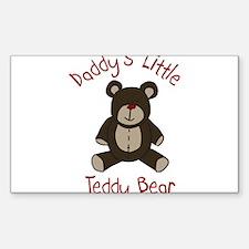 Daddys Teddy Bear Sticker (Rectangle)