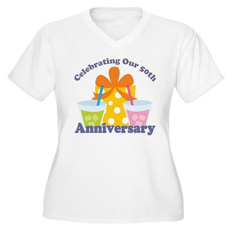50th Anniversary Party Gift Women's Plus Size V-Ne