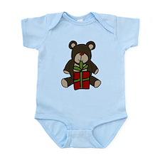 Christmas Teddy Bear Gift Infant Bodysuit