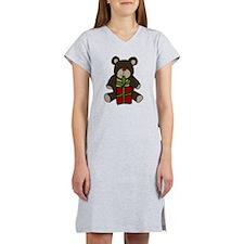 Christmas Teddy Bear Gift Women's Nightshirt