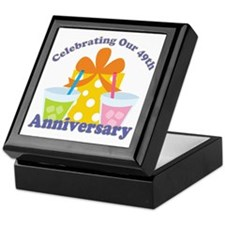 49th Anniversary Party Gift Keepsake Box