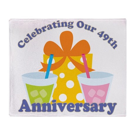 49th Anniversary Party Gift Throw Blanket