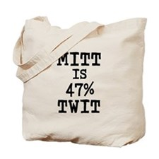 MITT IS 47% TWIT - Tote Bag