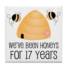 17th Anniversary Honey Tile Coaster