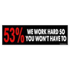 53% Bumper Sticker