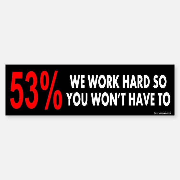 53% Sticker (Bumper)