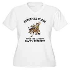 Pregnant Cowgirl Plus Size T-Shirt