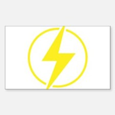 Vintage Retro Lightning Bolt Sticker (Rectangle)
