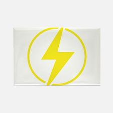 Vintage Retro Lightning Bolt Rectangle Magnet