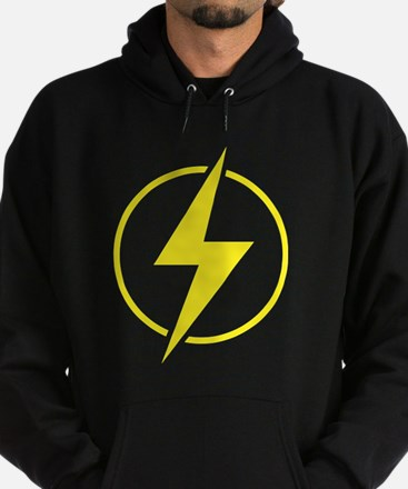 Vintage Retro Lightning Bolt Hoodie (dark)