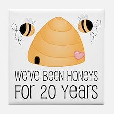 20th Anniversary Honey Tile Coaster