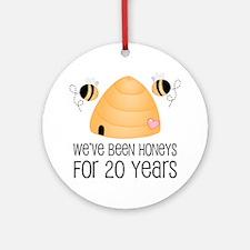 20th Anniversary Honey Ornament (Round)