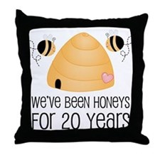 20th Anniversary Honey Throw Pillow