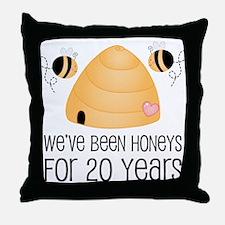 20th Anniversary Honey Throw Pillow