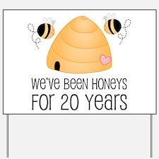20th Anniversary Honey Yard Sign