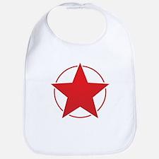 Vintage Retro Red Star Design Bib