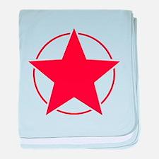 Vintage Retro Red Star Design baby blanket