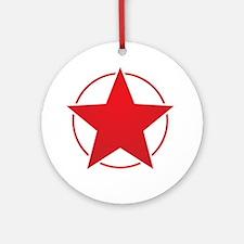 Vintage Retro Red Star Design Ornament (Round)