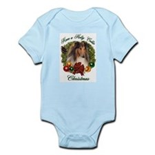 Holly Collie Christmas Infant Creeper