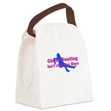 Girl Ghost Hunter Canvas Lunch Bag