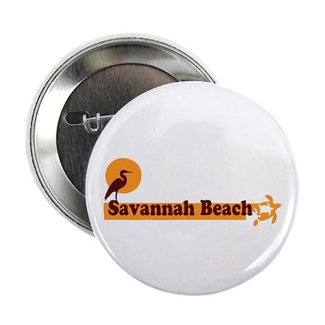 """Savannah Beach GA - Beach Design. 2.25"""" Button (10"""