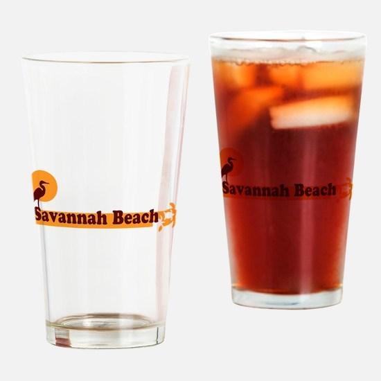 Savannah Beach GA - Beach Design. Drinking Glass