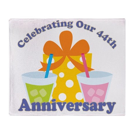 44th Anniversary Celebration Throw Blanket