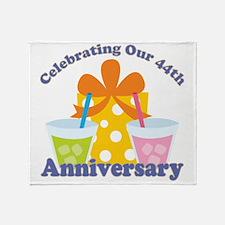 44th Anniversary Celebration Throw Blanket