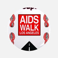 """The Life Group LA - AIDS Walk 3.5"""" Button"""