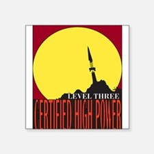 Certified High Power Level Th Rectangle Sticker