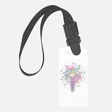 Rainbow Floral Cross Luggage Tag