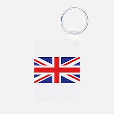 United Kingdom Union Jack Aluminum Photo Keychain