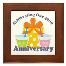42nd Anniversary Party Gift Framed Tile