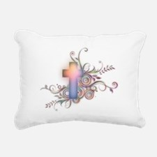 Colorful Cross Rectangular Canvas Pillow