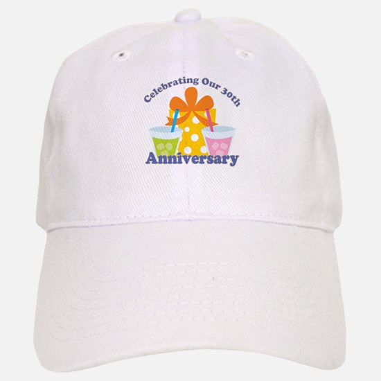 30th Anniversary Party Baseball Baseball Cap