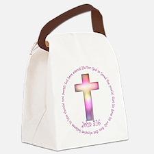John 3:16 Canvas Lunch Bag