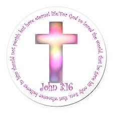 John 3:16 Round Car Magnet