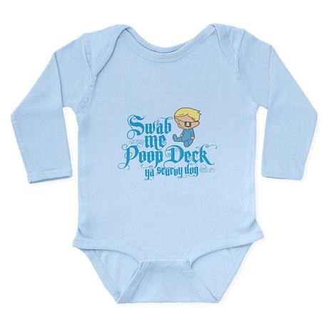 Swab Me Poop Deck Ya Scurvy Dog Long Sleeve Infant