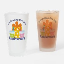 38th Anniversary Gift Drinking Glass