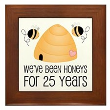 25th Anniversary Honey Framed Tile
