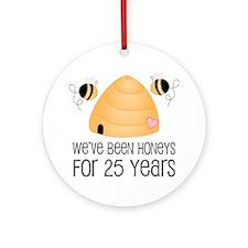 25th Anniversary Honey Ornament (Round)