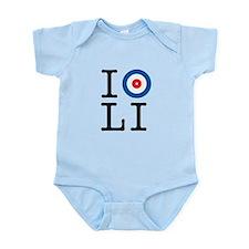 I Curl Long Island Infant Bodysuit