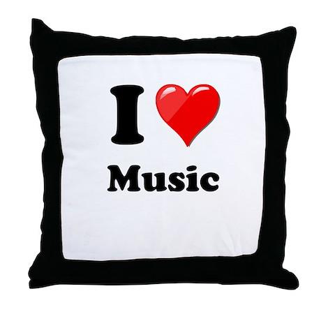 I Heart Love Music.png Throw Pillow